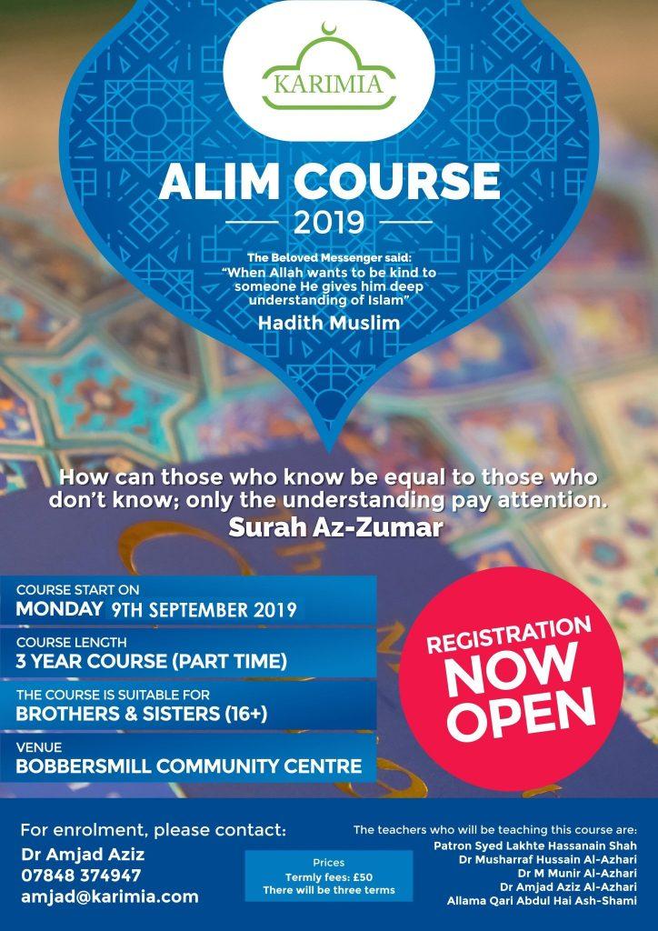 Alim Course restarts | Karimia Institute